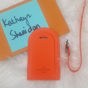 NEW LOUIS VUITTON ORANGE LUGGAGE TAG